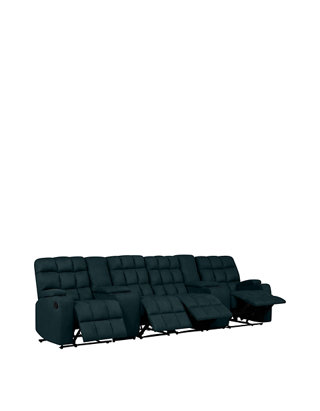 Stupendous Prolounger 4 Seat Wall Hugger Recliner Sofa With 2 Power Storage Consoles In Microfiber Gmtry Best Dining Table And Chair Ideas Images Gmtryco