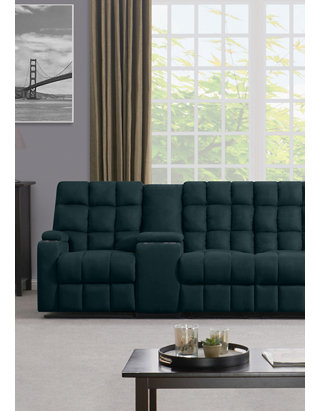 Admirable Prolounger 4 Seat Wall Hugger Recliner Sofa With 2 Power Storage Consoles In Microfiber Gmtry Best Dining Table And Chair Ideas Images Gmtryco
