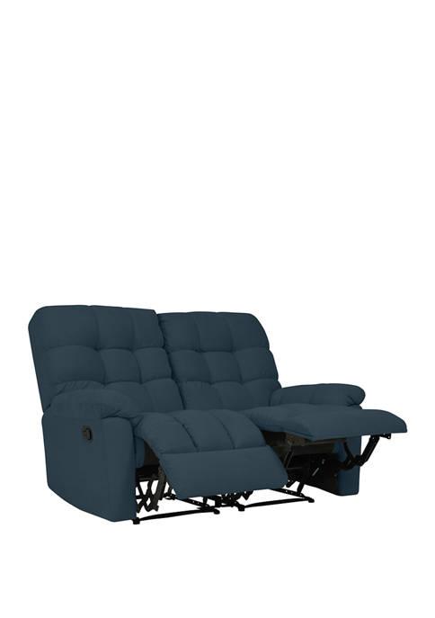 ProLounger 2 Seat Tufted Wall Hugger Recliner Loveseat