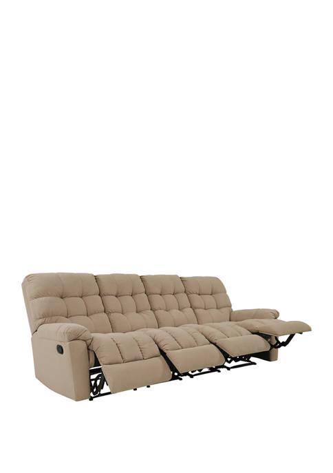 ProLounger 4 Seat Tufted Wall Hugger Recliner Sofa
