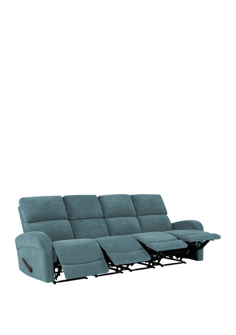 4 Seat Wall Hugger Recliner Sofa in Chenille