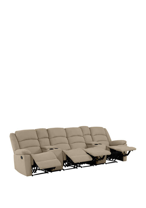 ProLounger 4 Seat Pillow Top Arm Recliner Sofa