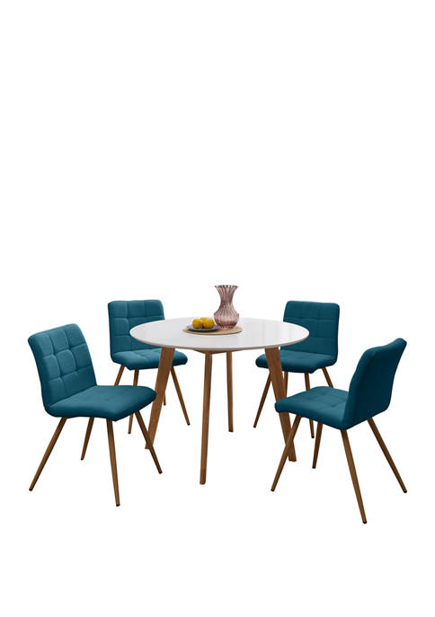 Handy Living Edgewater 5 Piece Round Table with