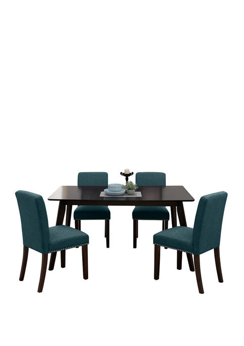 Handy Living Windsor 5 Piece Rectangle Table in