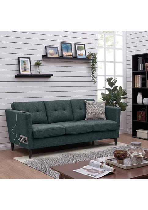 Handy Living Centennial Squared Arm Sofa with USB