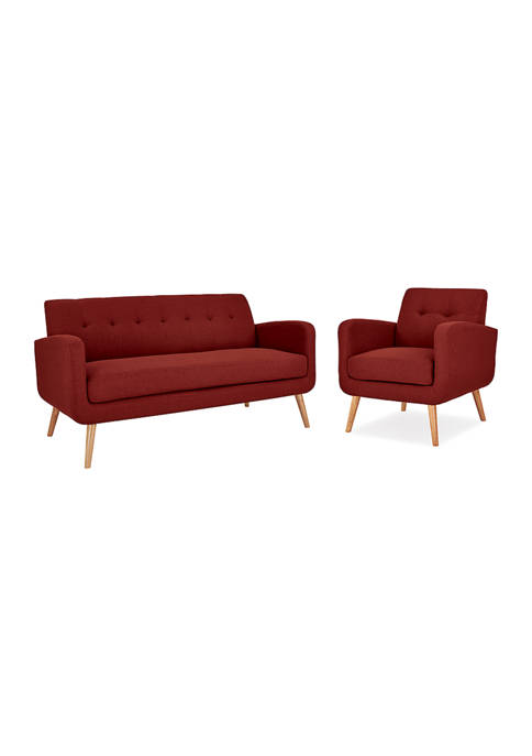 Handy Living Kingston Mid Century Modern Sofa and