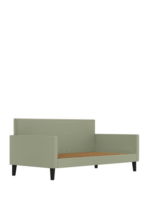 Handy Living Upholstered Twin Size Square Back Daybed