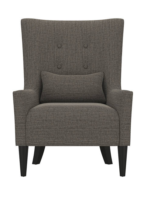 Venecia Shelter High Back Wing Chair in Tweed