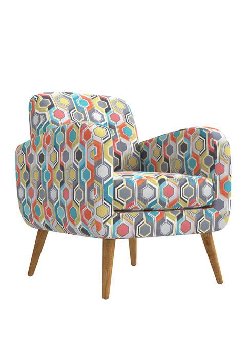 Handy Living Kingston Mid Century Modern Arm Chair