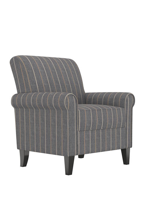 Handy Living Jean Rolled Arm Chair in Stripe
