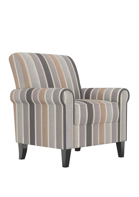 Handy Living Jean Rolled Arm Chair in Multi-Stripe