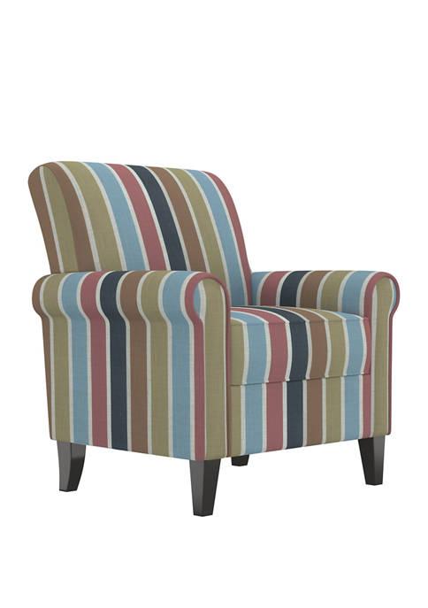 Jean Rolled Arm Chair in Multi-Stripe
