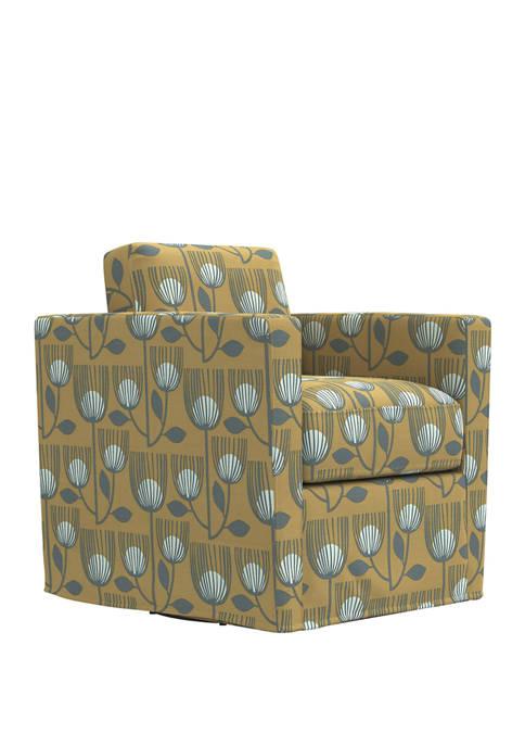 Handy Living Anastasia Swivel Club Chair in Modern