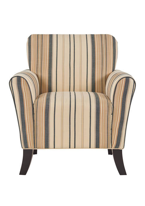 Handy Living Sasha Arm Chair in Striped Fabric