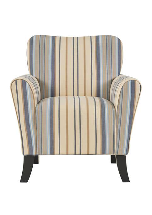 Sasha Arm Chair in Striped Fabric