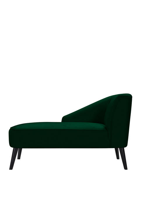 Phoria Channel Tufted Chaise Lounge in Velvet