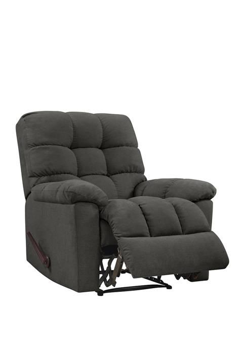ProLounger Wall Hugger Reclining Chair in Plush Low-Pile Velvet