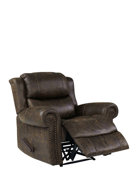 ProLounger Wall Hugger Rolled Arm Reclining Chair in Distressed Faux Leather