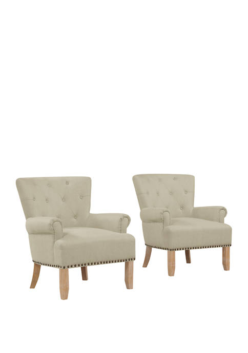 Handy Living Set of 2 Chauncey Button Tufted