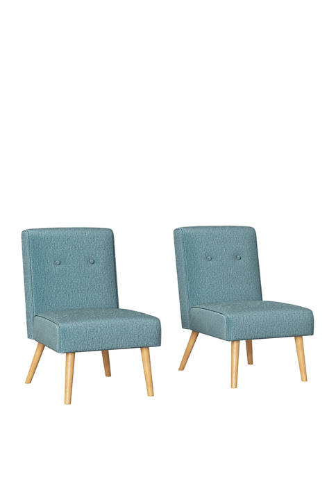 Handy Living Set of 2 Wilbur Button Tufted