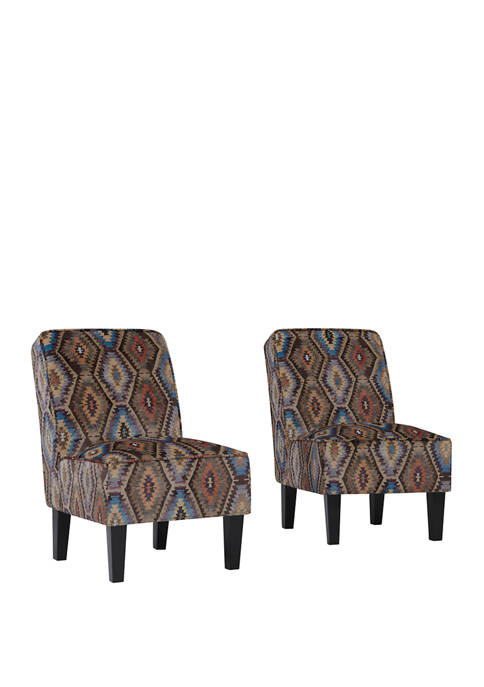 Handy Living Set of 2 Brodee Armless Accent