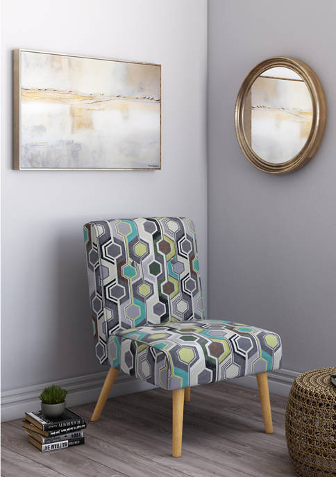 Handy Living Wilbur Button Tufted Armless Chair in