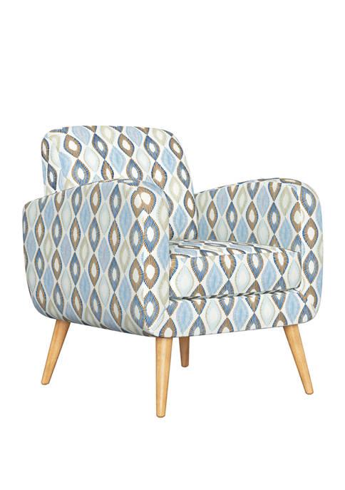 Handy Living Kingston Mid Century Modern Armchair in
