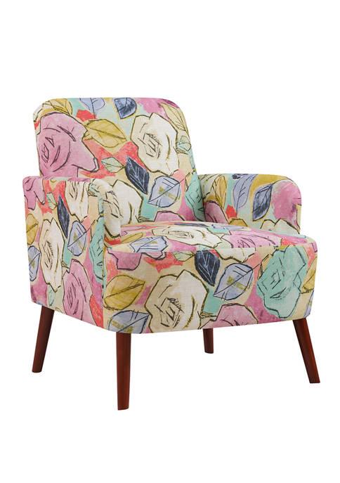 Handy Living Lambert Arm Chair in Multi Abstract