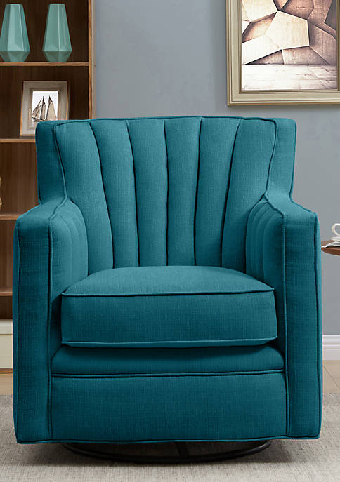 Handy Living Zahara Swivel Arm Chair