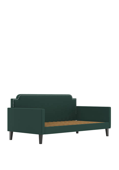 Handy Living Upholstered Twin Size Rounded Back Daybed