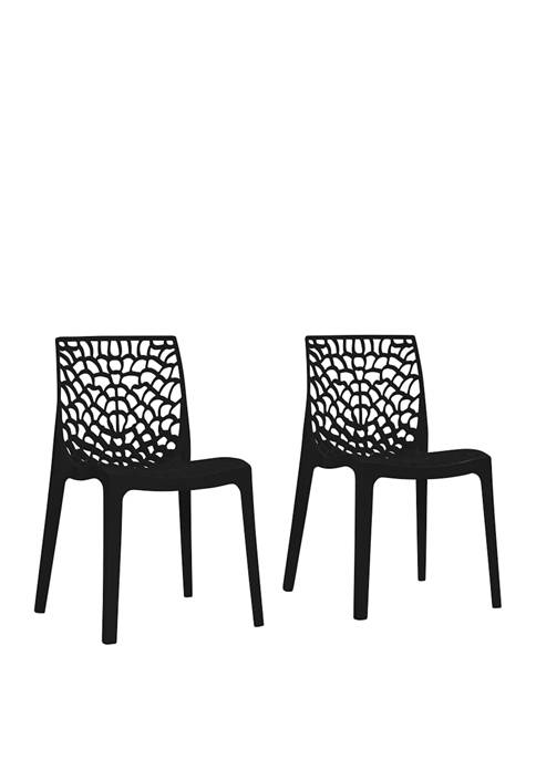 Handy Living Rine Sur Indoor/Outdoor Resin Dining Chairs
