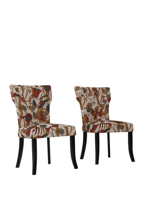 Handy Living Sirena Dining Chairs in Warm Multi