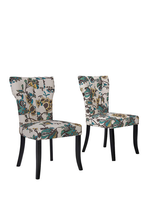 Handy Living Sirena Dining Chairs in Cool Multi