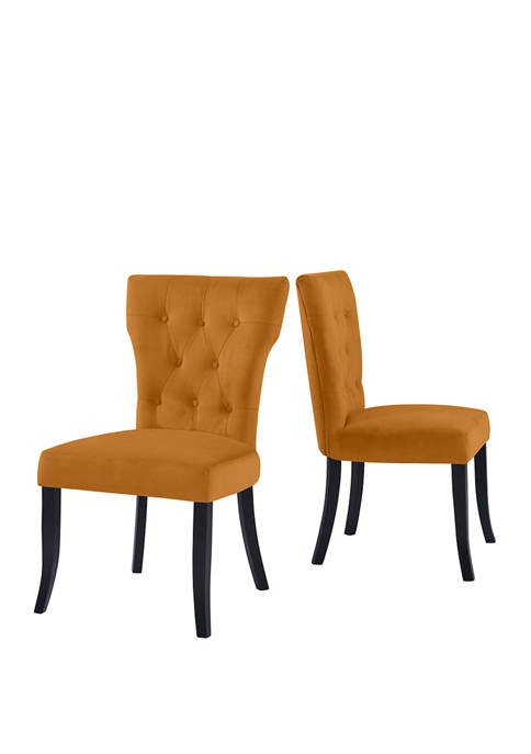 Handy Living Sirena Dining Chairs in Velvet (Set