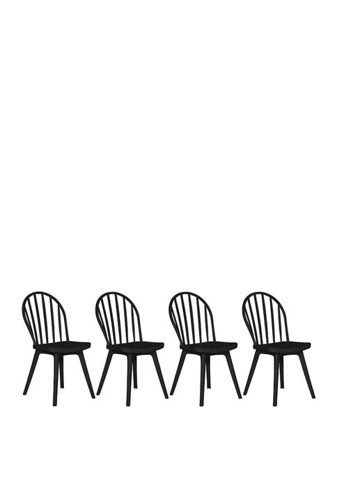 Handy Living Dalore Indoor/Outdoor Resin Dining Chairs (Set
