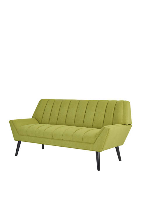 Handy Living Houston Sofa in Apple Green Plush