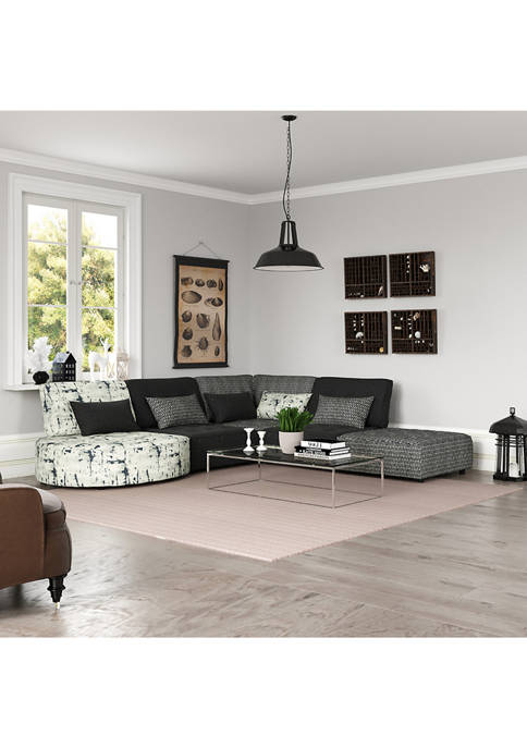 Handy Living McCarthy Upholstered Modular 5 Piece Sectional