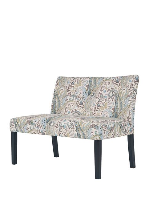 Handy Living Nate Button Tufted Settee in Paisley