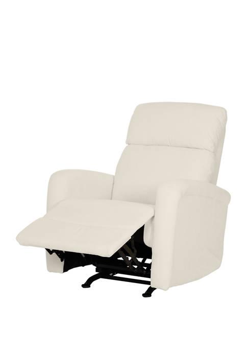 Rocker Recliner Chair in Cream Chenille