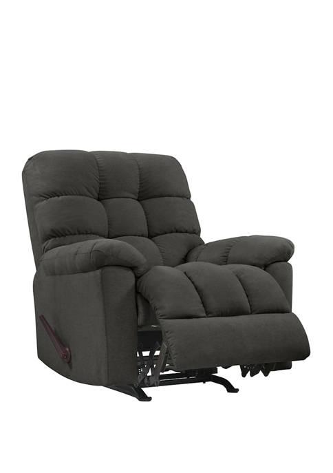 ProLounger Rocker Recliner Chair in Dark Gray Plush