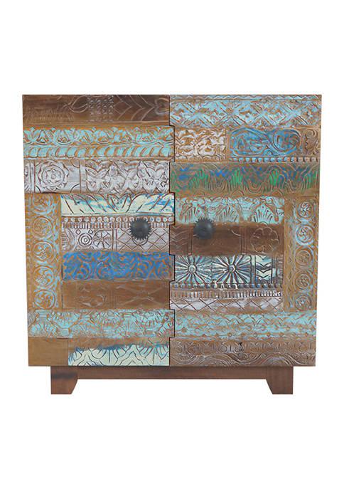 Handy Living Rayner Patchwork Design 2 Door Wood