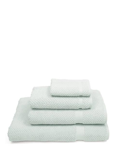 Linum Home Textiles 4 Piece Turkish Cotton Herringbone