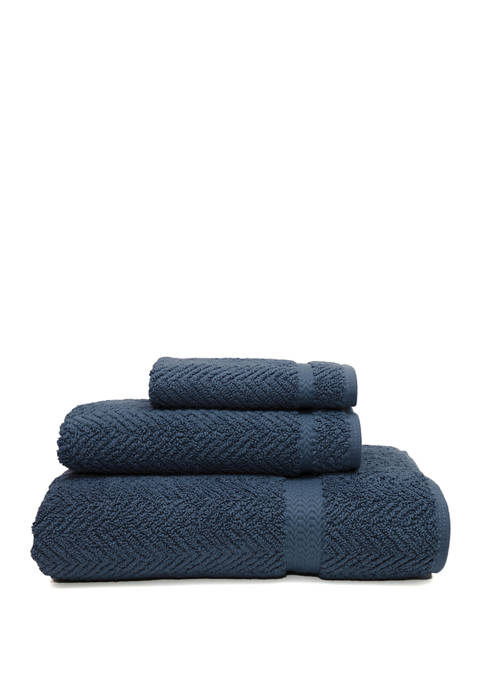 Linum Home Textiles 3 Piece Turkish Cotton Herringbone