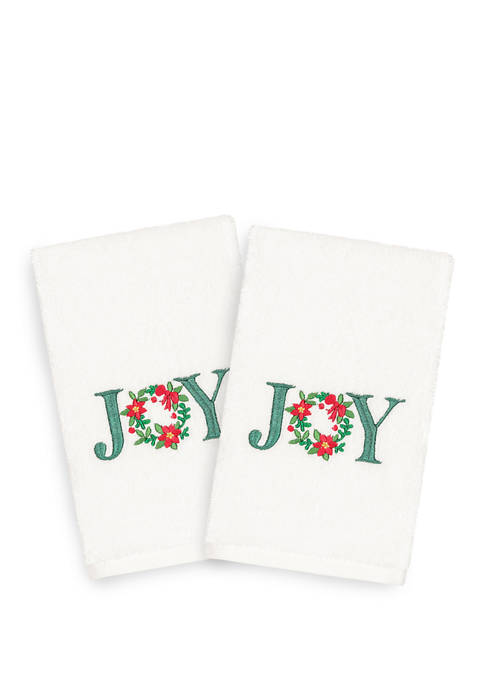 Linum Home Textiles Christmas Joy Embroidered Luxury Turkish