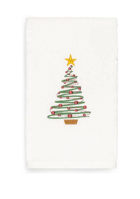 Linum Home Textiles Christmas Tree Embroidered Luxury Turkish