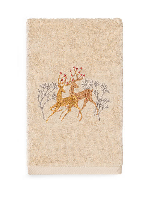 Linum Home Textiles Christmas Deer Pair Embroidered Luxury