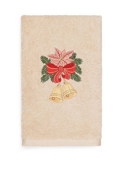 Linum Home Textiles Christmas Bells Embroidered Luxury Turkish
