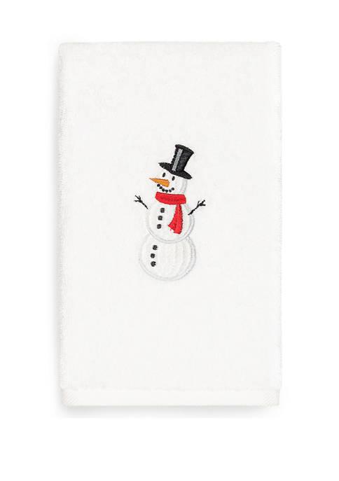 Linum Home Textiles Snowman Embroidered Luxury Turkish Cotton