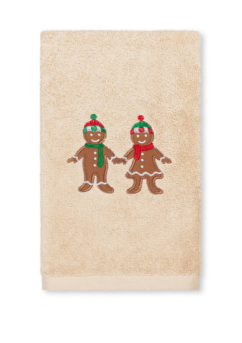 Gingerbread - Embroidered Luxury Turkish Cotton Hand Towel