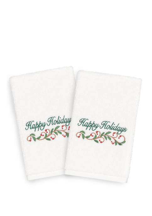 Linum Home Textiles Set of 2 Happy Holiday